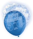 Ballons Happy Birthday blau